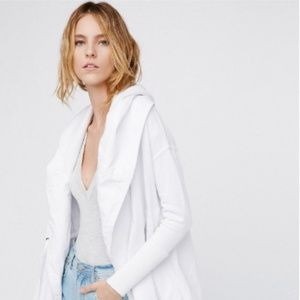 Free People White Brentwood Cardigan